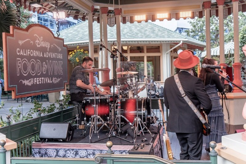 Band at Disneyland food and wine festival
