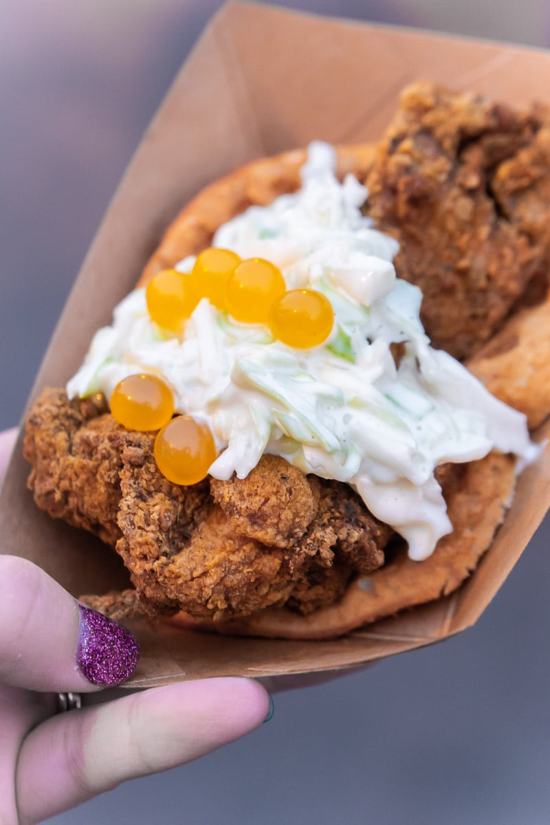 Fried chicken at Disneyland Food and Wine Festival