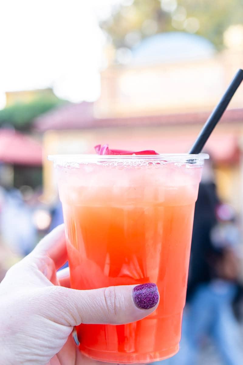 Strawberry lemonade at Disneyland Food and Wine Festival