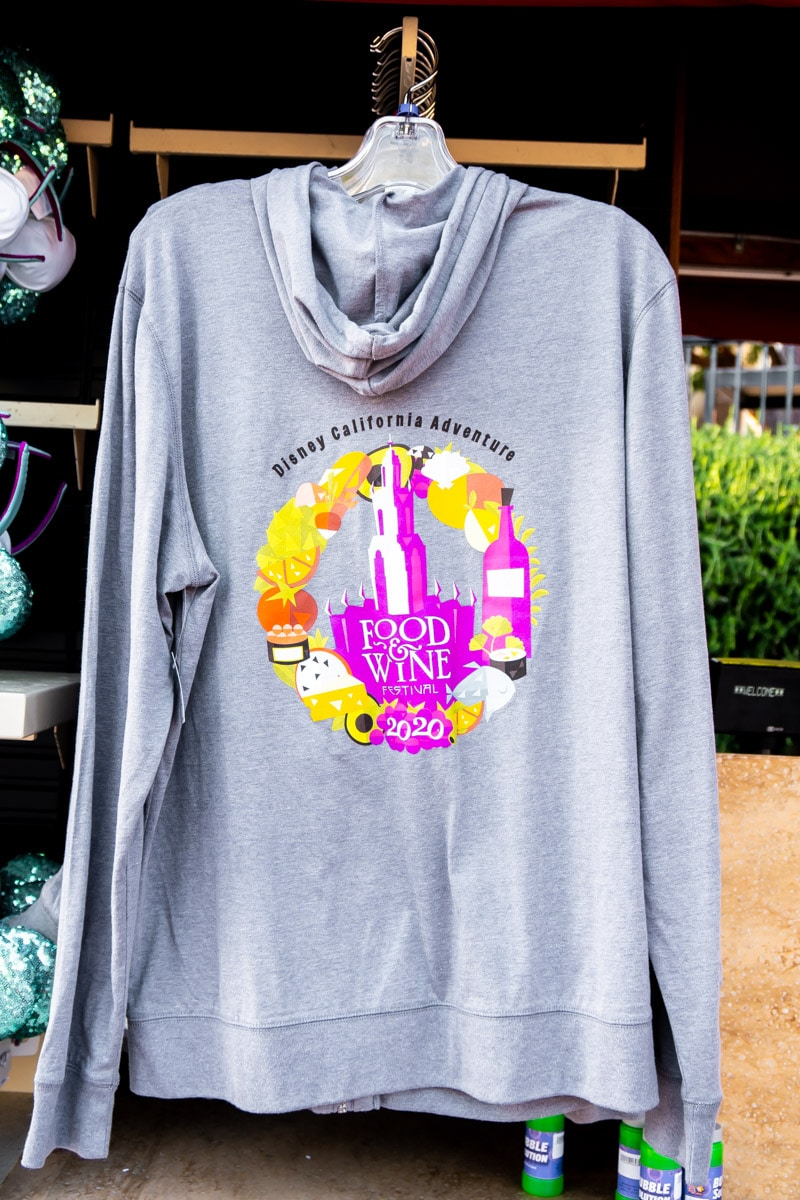 Merchandise at the Disneyland food and wine festival