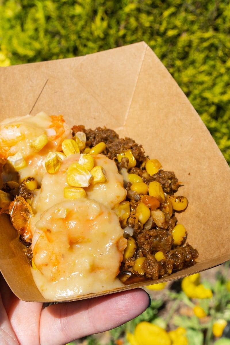 Shrimp and corn at Disneyland Food and Wine Festival