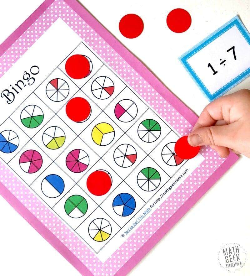 Fun math bingo game