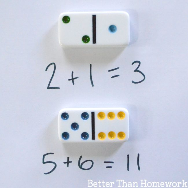Fun math games with dominoes