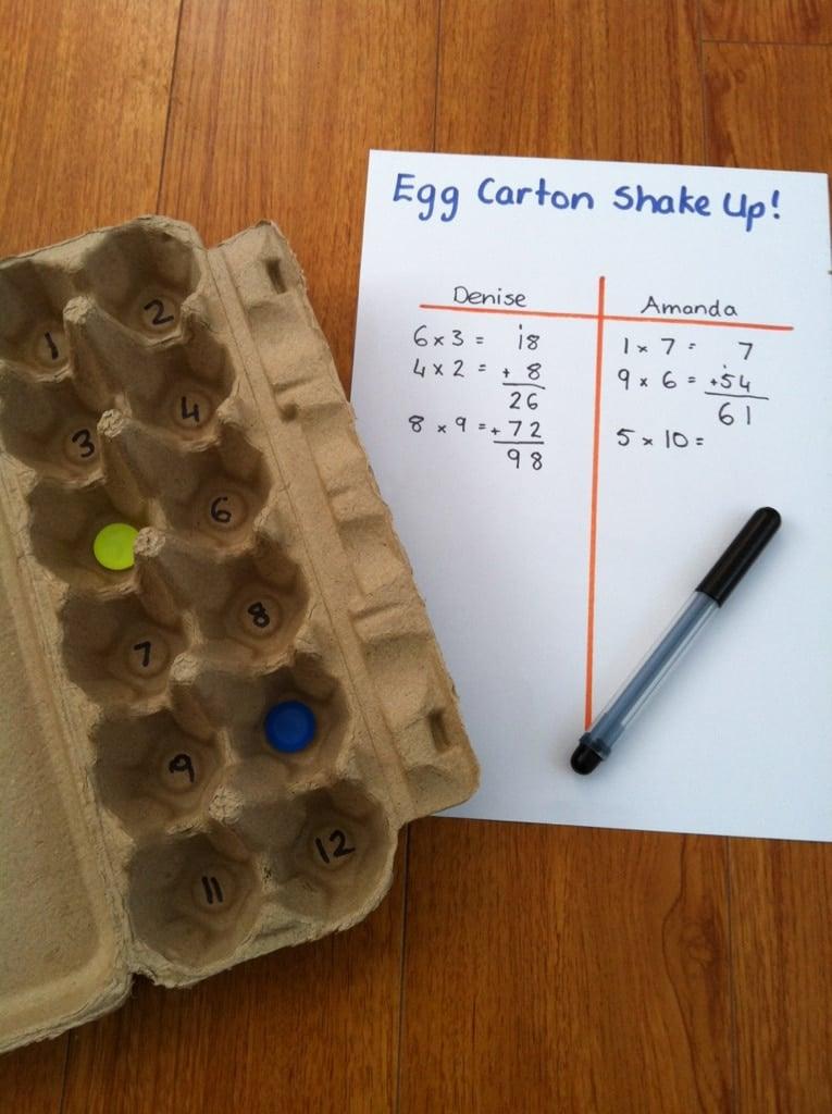 Egg carton math games