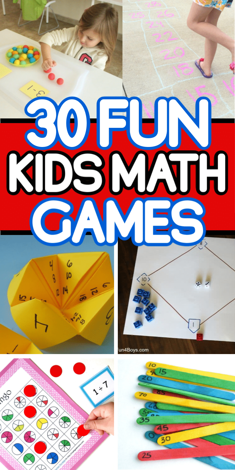 30 of the most fun math games for kids! Printable games, free math games, and more! via @playpartyplan