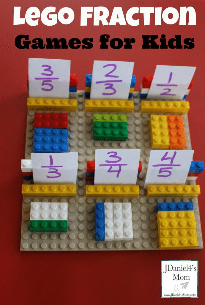 Fun math games with Legos