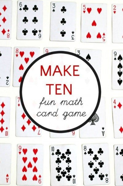 Fun math games with cards