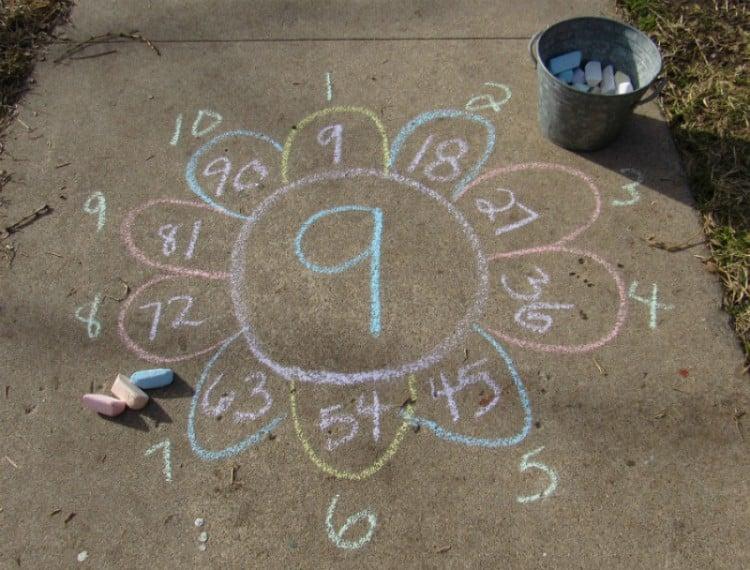 Outdoor math games