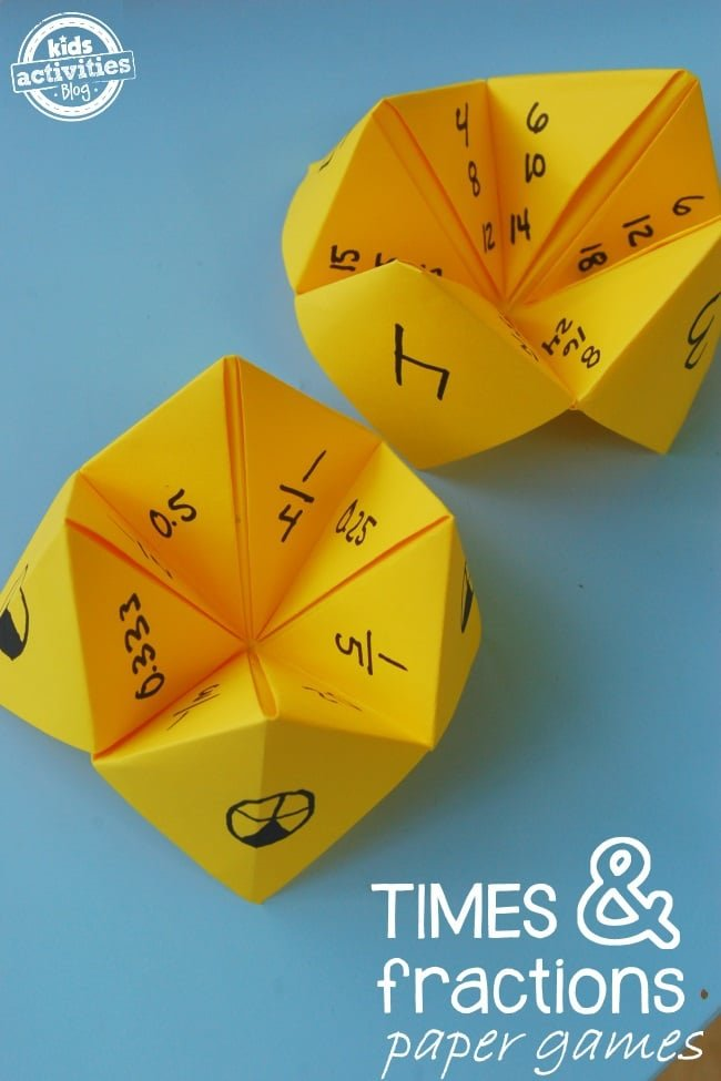 Fun math games with fortune tellers