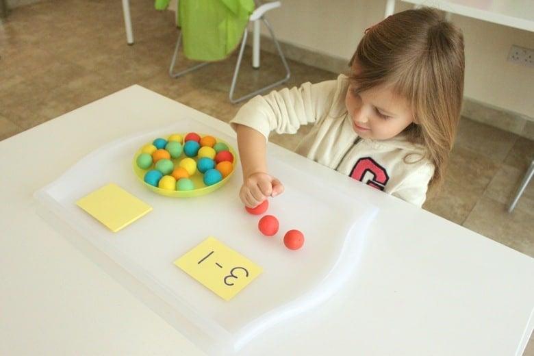 Play dough math games