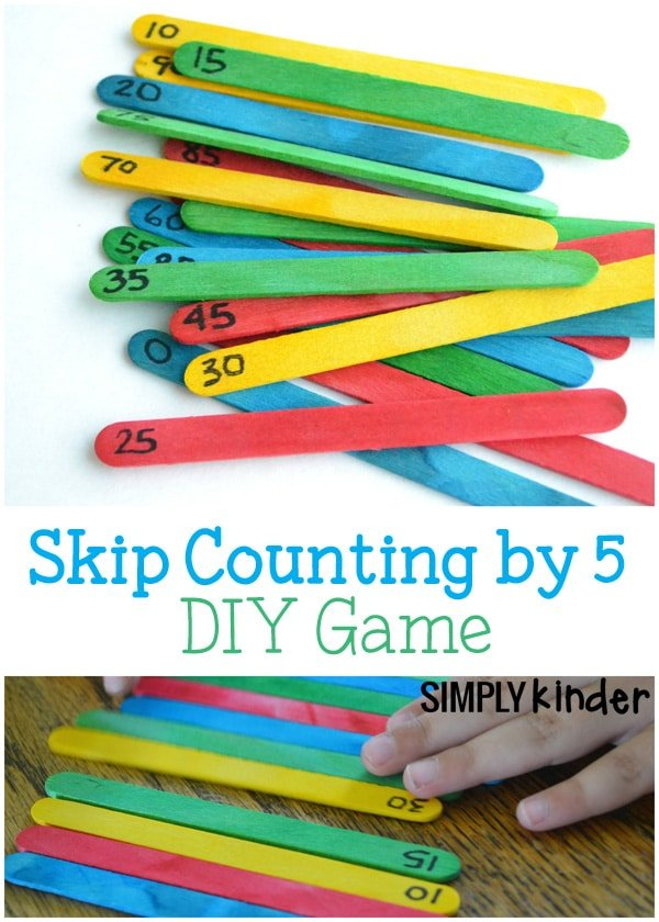 Fun math games with popsicle sticks