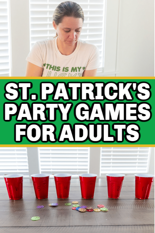 3 super fun St. Patrick's Day games for adults and teens! Super easy to play and so much fun!