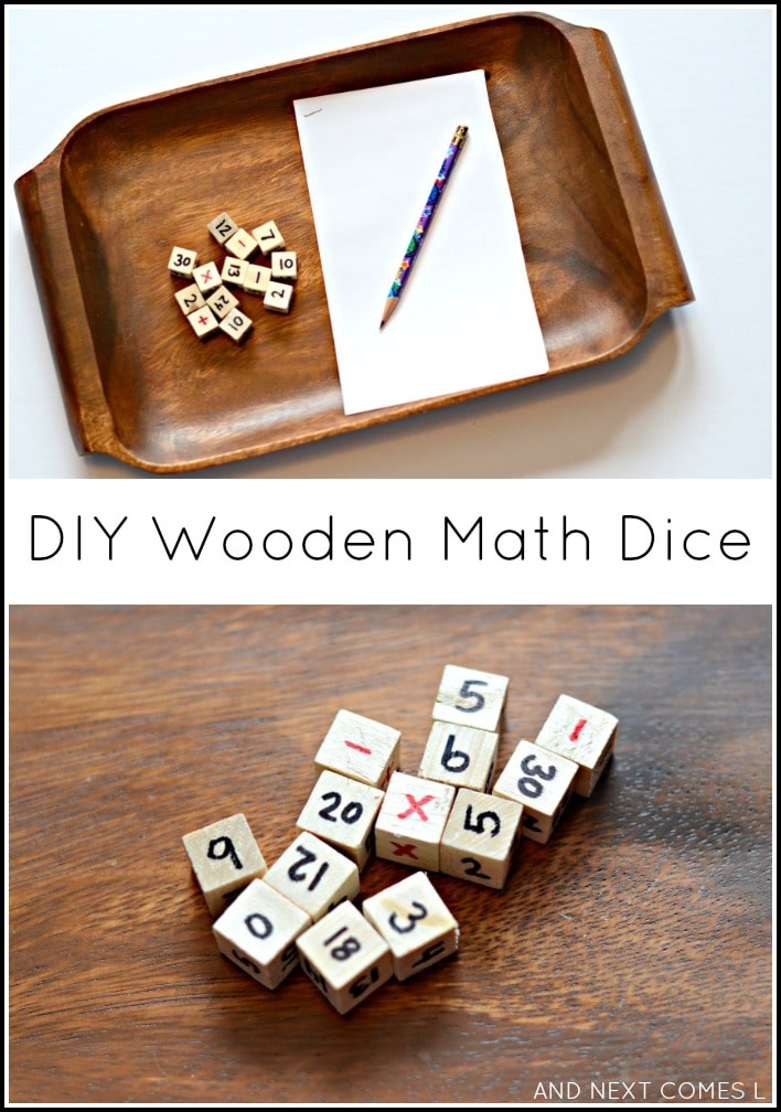 Fun math games with dice