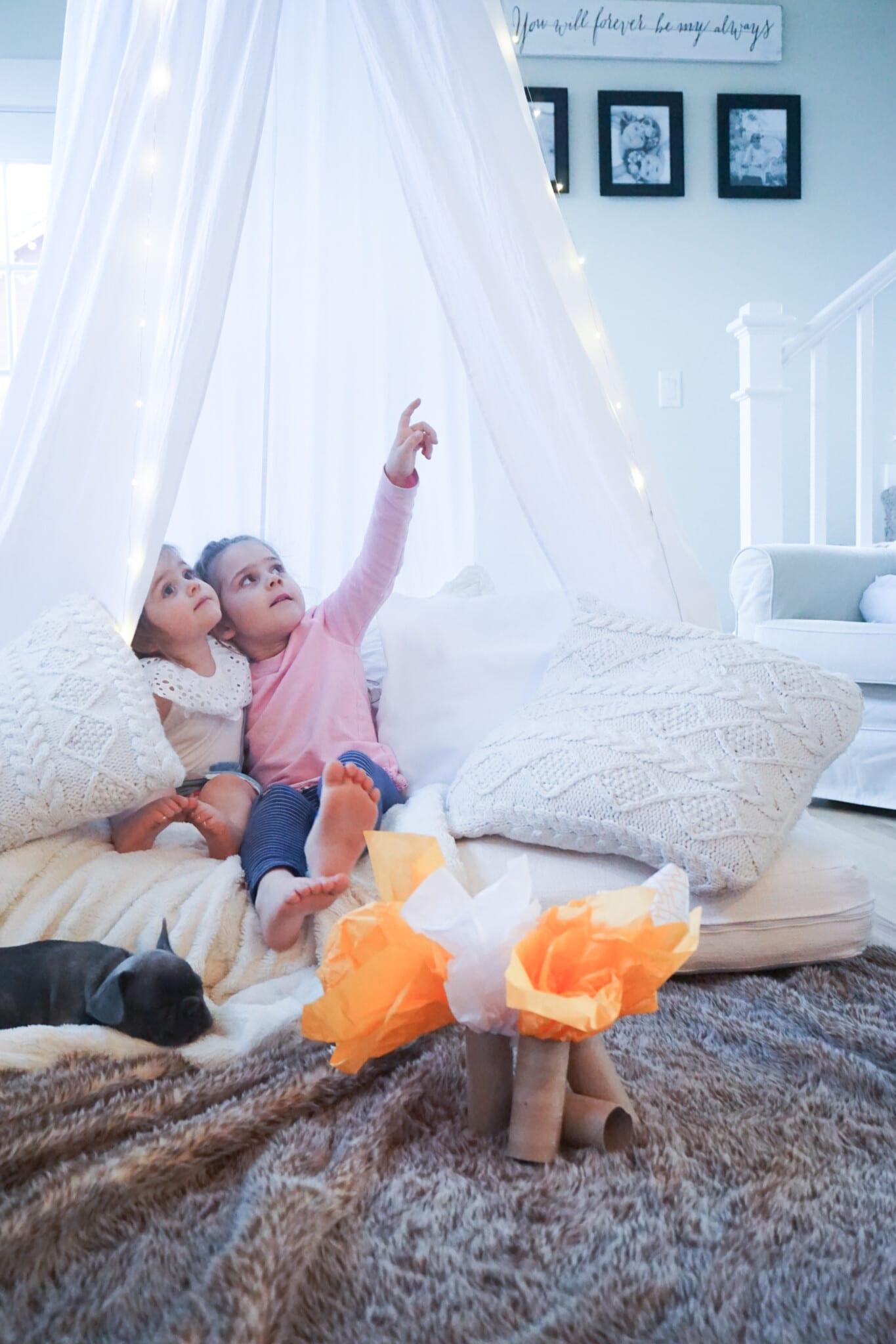 Camping indoor activities for kids