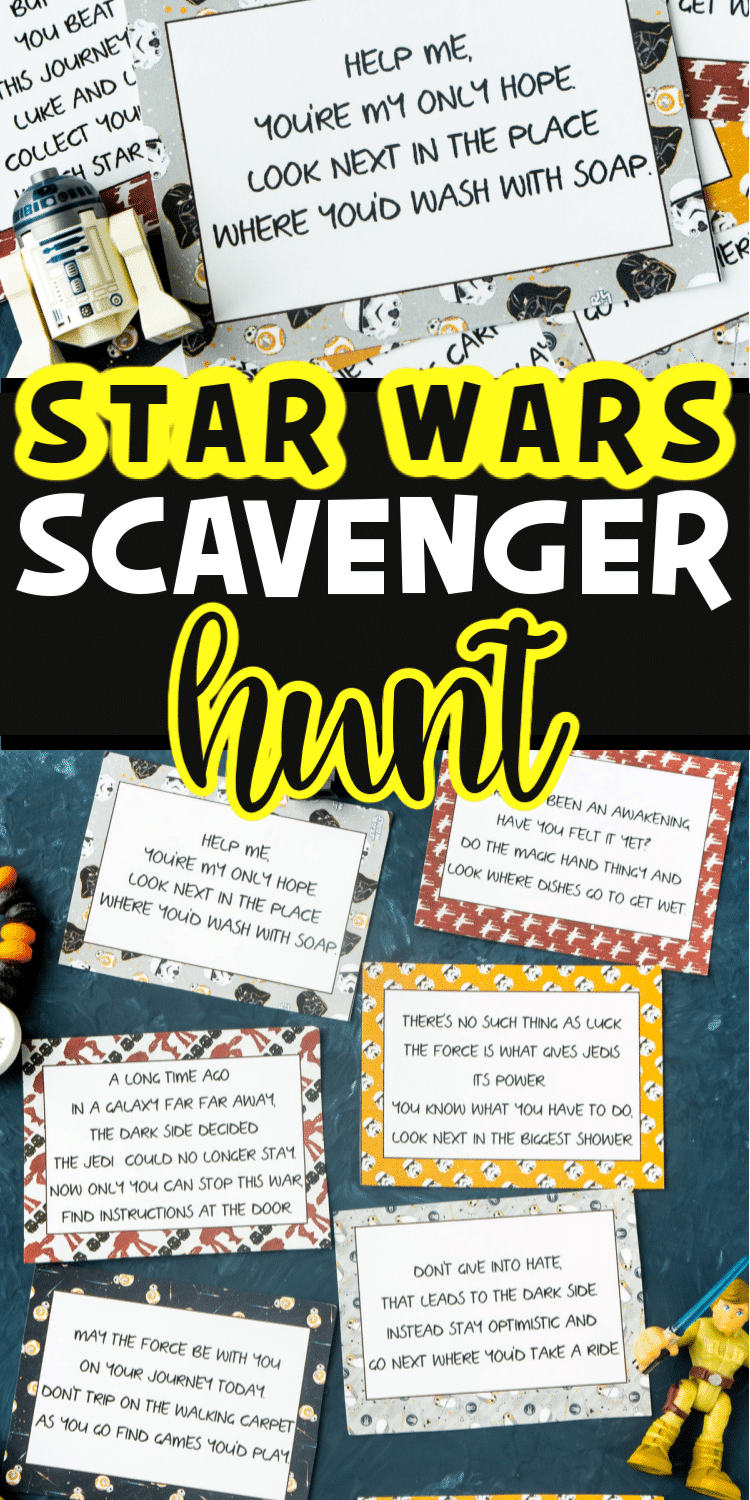 Star Wars scavenger hunt clues