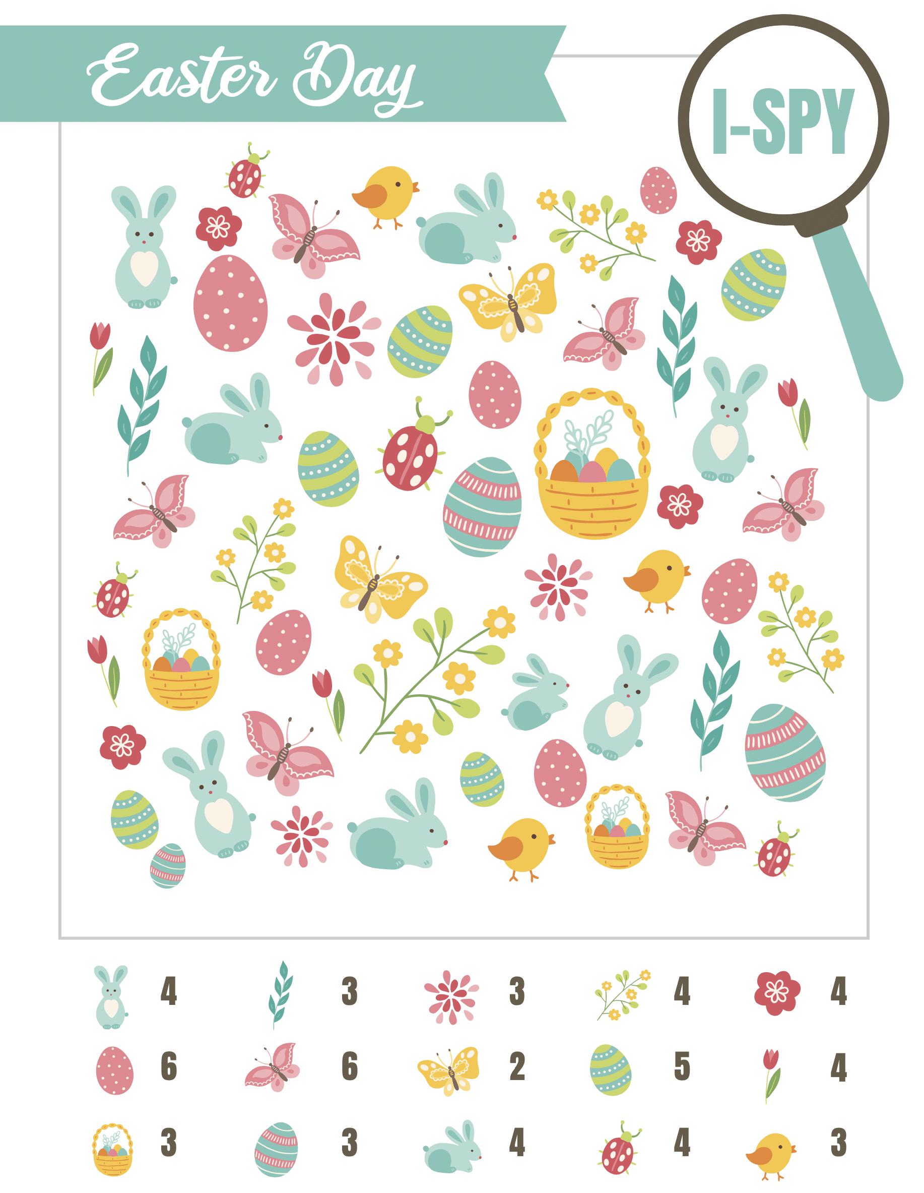 Easter i-spy page