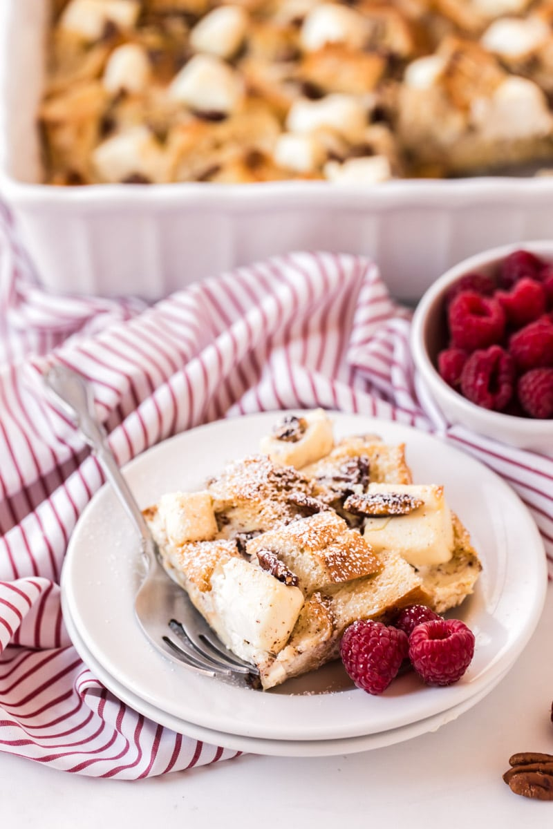 Slice of the best french toast casserole