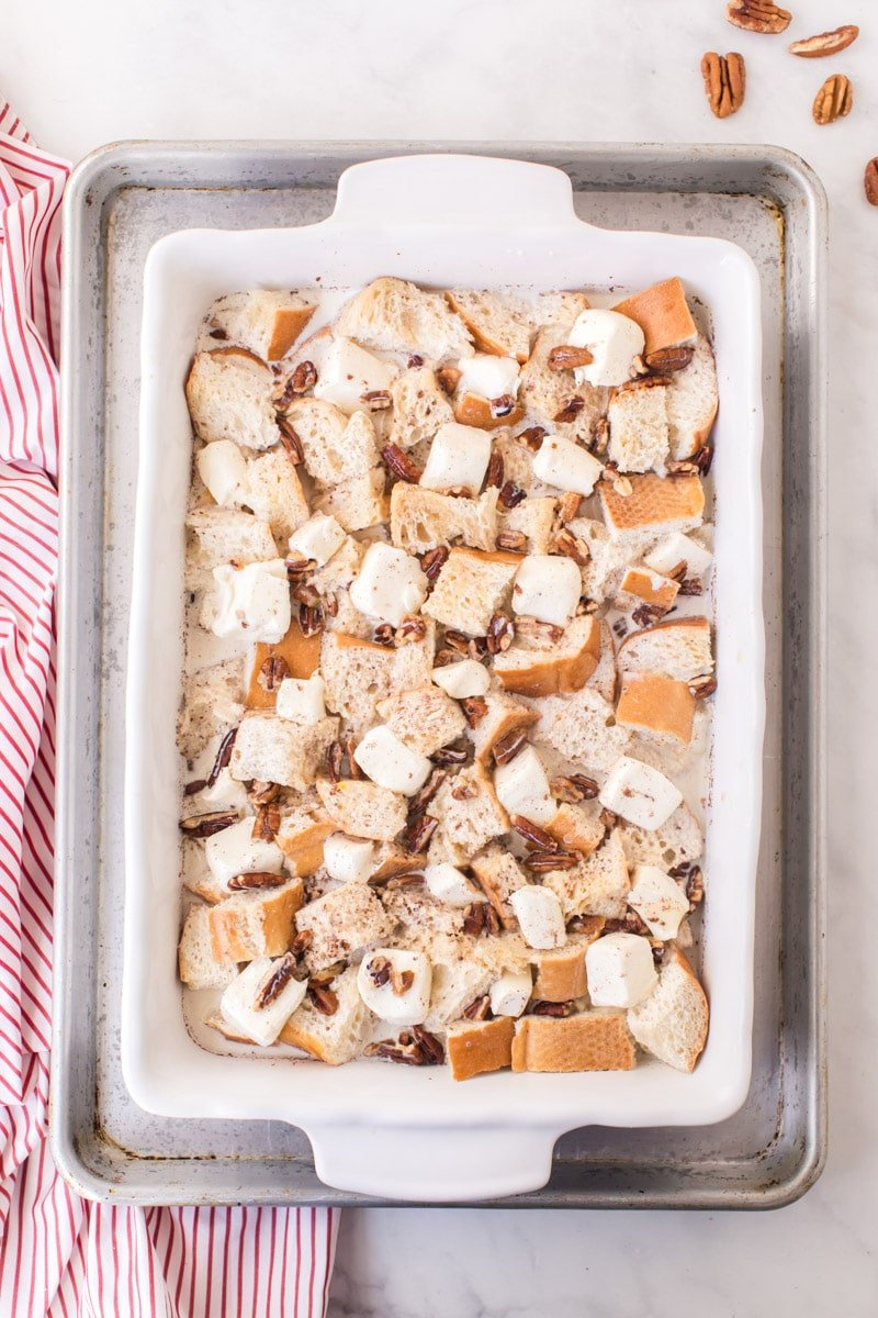 French toast casserole in water bath