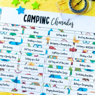 Free Printable Camping Charades and Pictionary