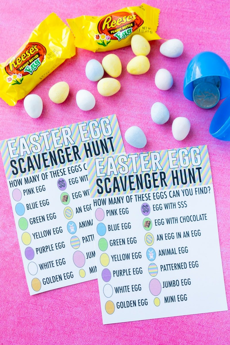 Printed Easter egg scavenger hunt