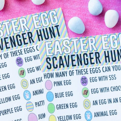 Printable Easter Egg Scavenger Hunt