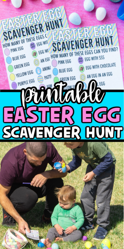 This fun Easter egg scavenger hunt will have kids hunting for different types of Easter eggs, not just as many as they can find! It's the perfect change to a traditional Easter egg hunt an Easter activity that kids will love!