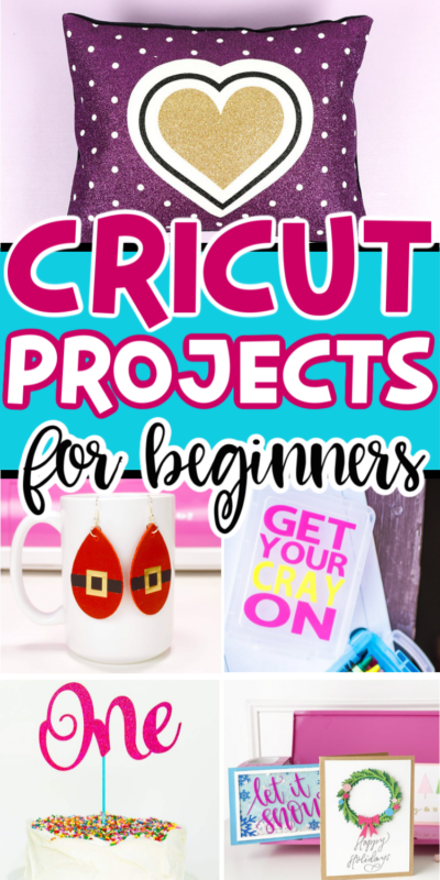 These easy Cricut projects can all be done in 30 minutes or less and are perfect for beginners! They're a great way to get started with using your Cricut and great beginner Cricut projects!