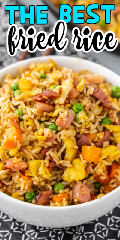 This homemade ham fried rice recipe is made by combining leftover rice, diced ham, veggies, and special seasonings for one delicious meal that's on the table in under 20 minutes!