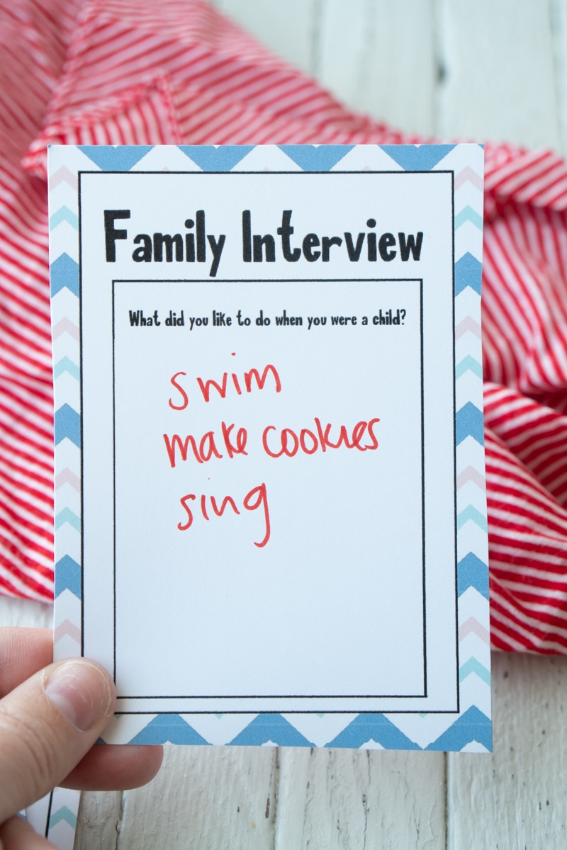 Answered family interview questions