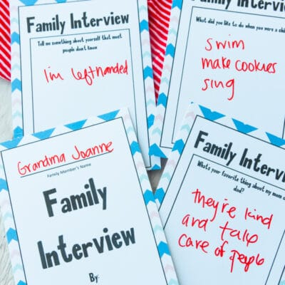 Free Printable Family Interview Questions