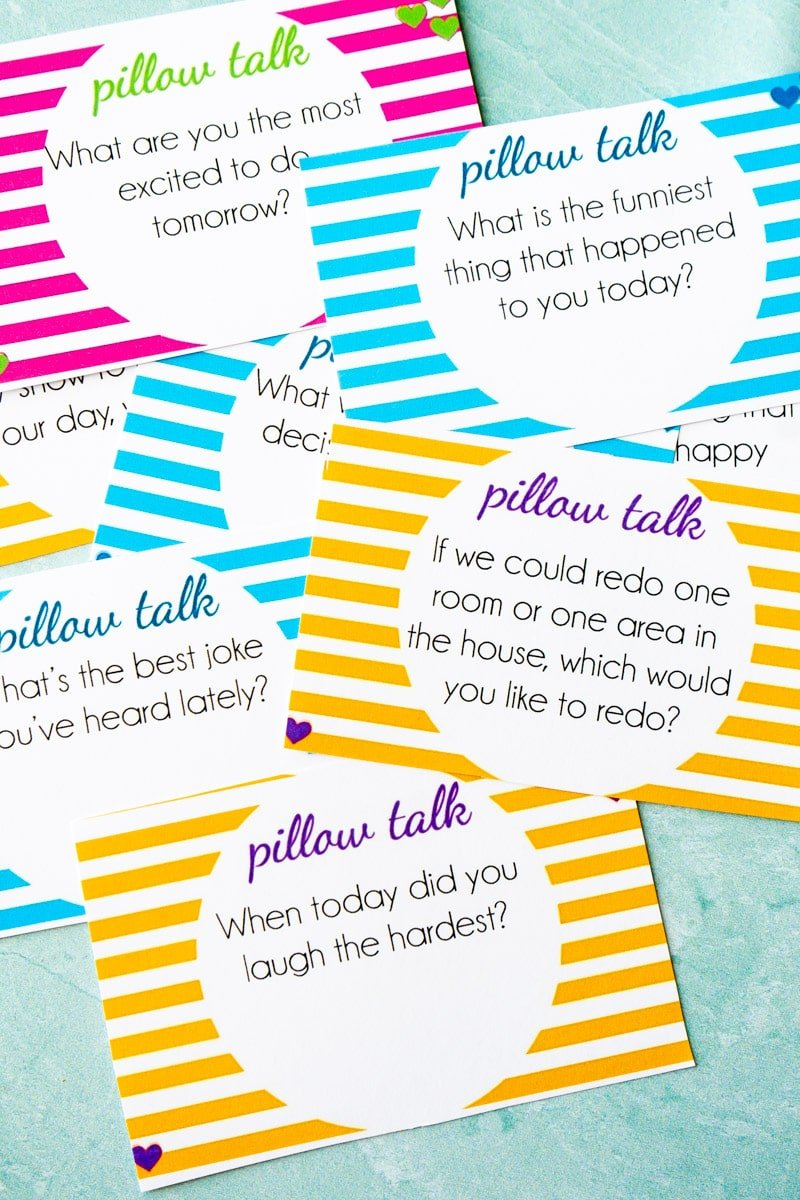 Printable pillow talk questions