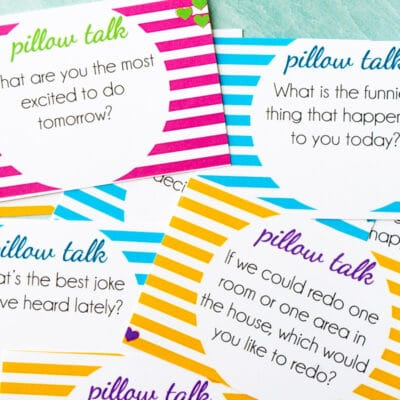 Free Printable Pillow Talk Questions