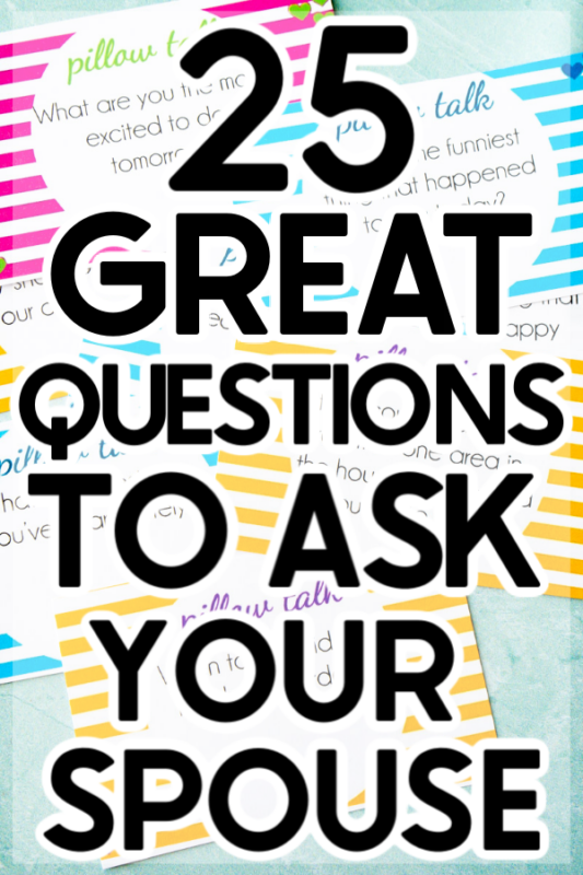 These pillow talk questions are perfect for deep conversations late at night, an at home date night, or just to reconnect with your spouse or significant other! With 25 free printable pillow talk questions, you'll have something new to talk about every day!