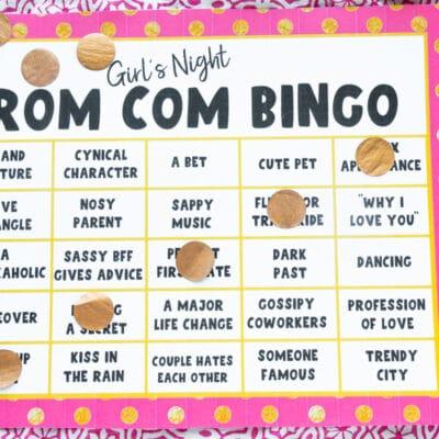 Free Printable Romantic Movie Bingo