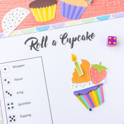 Printable Roll a Cupcake Game