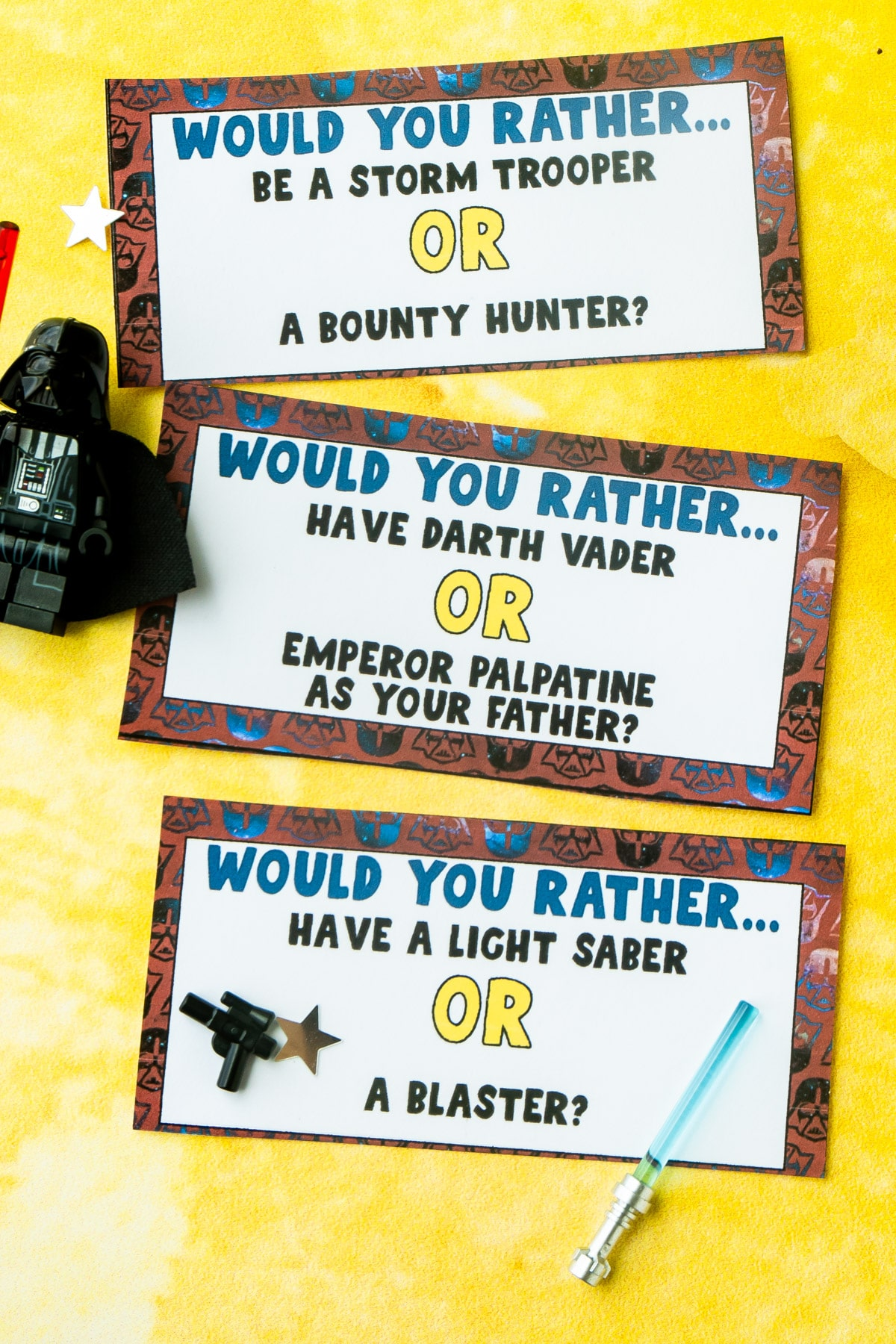 Star Wars Would You Rather Cards