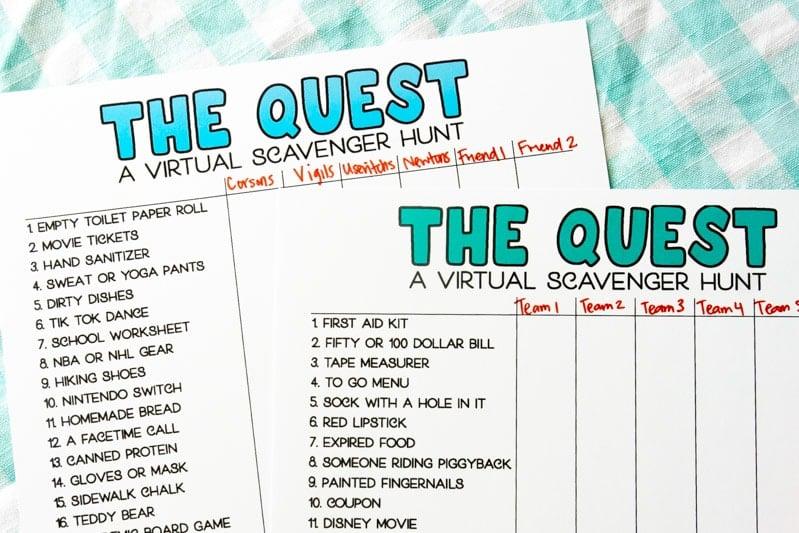 Fun Virtual Scavenger Hunt Ideas Free Printable Play Party Plan