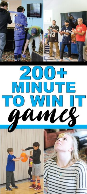 People playing minute to win it games