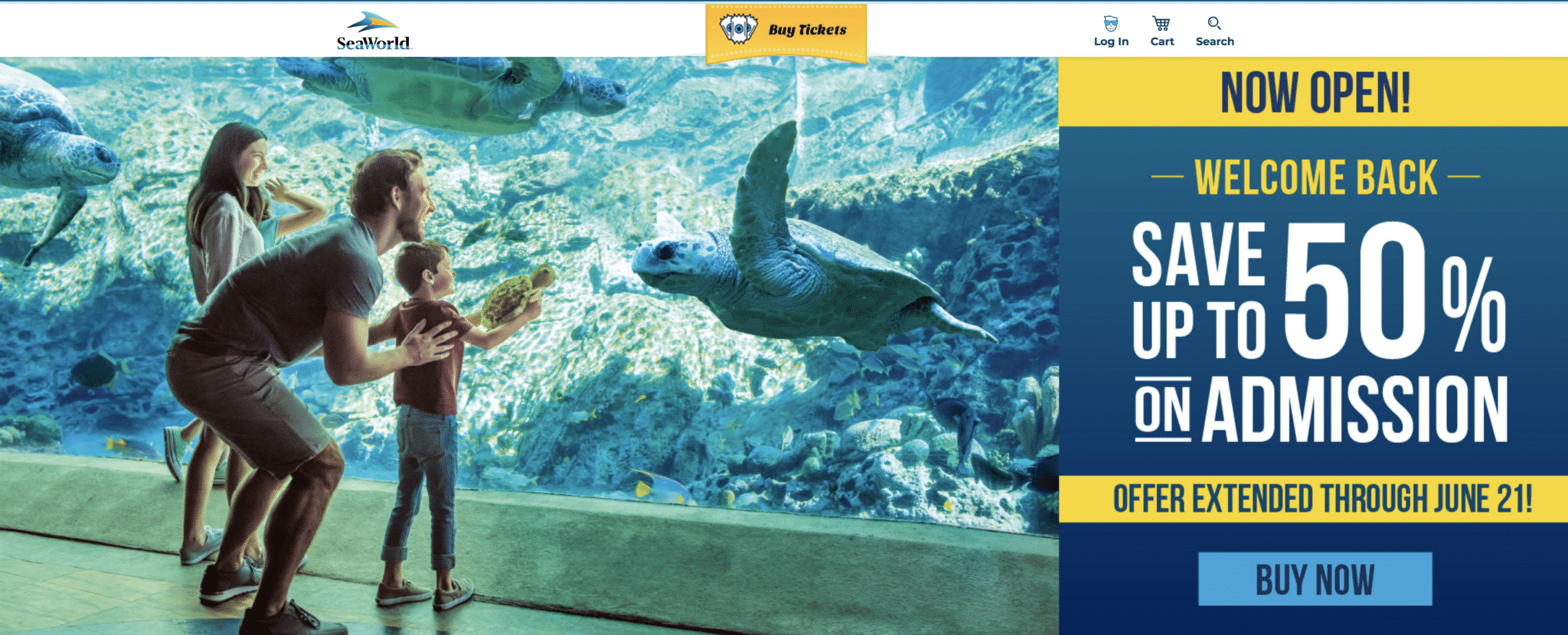 Sale sign from SeaWorld website