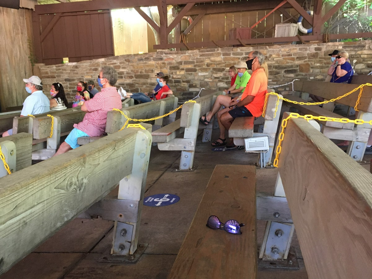 Closed rows at shows at Silver Dollar City
