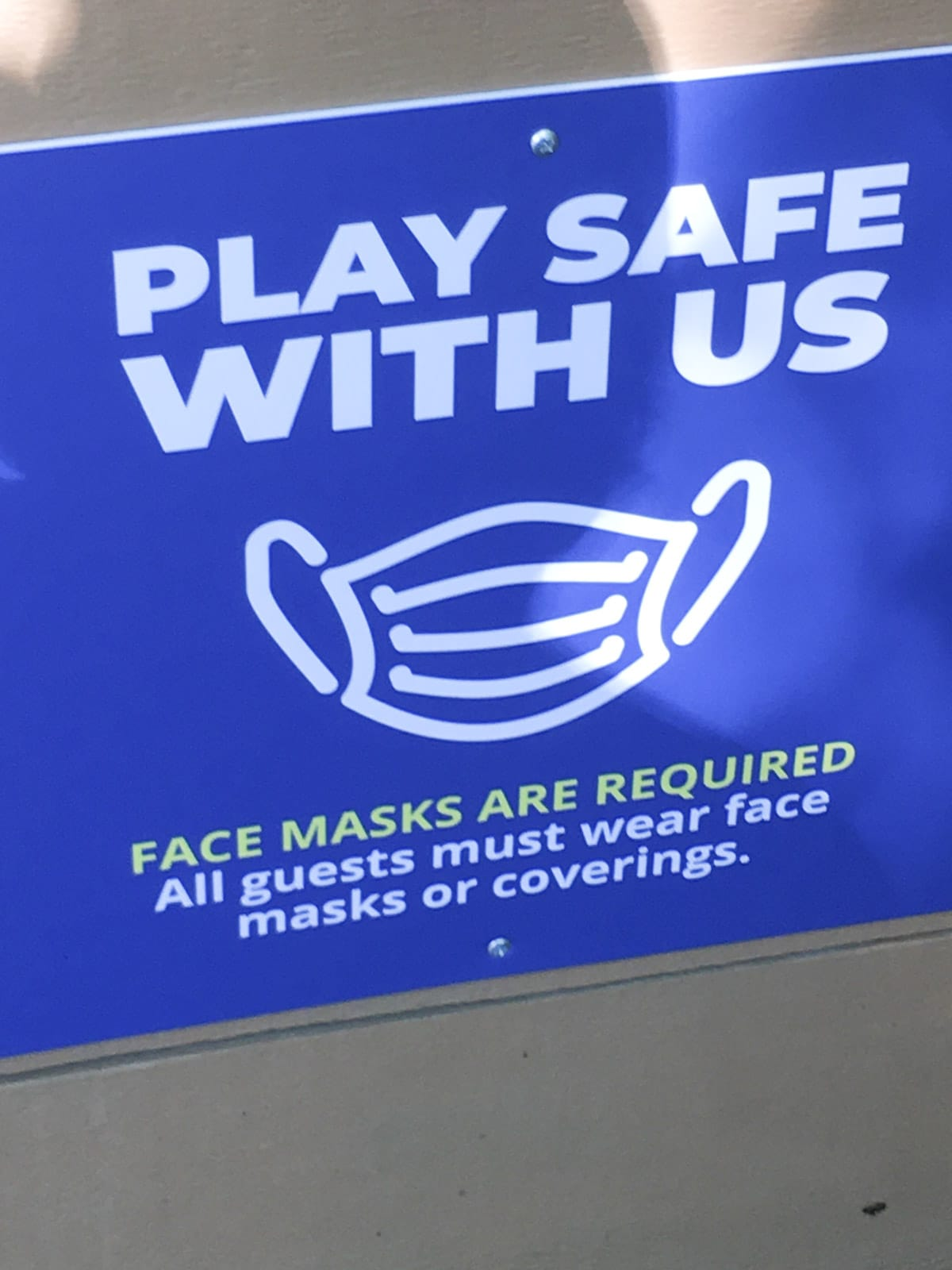 Masks required sign at Silver Dollar City