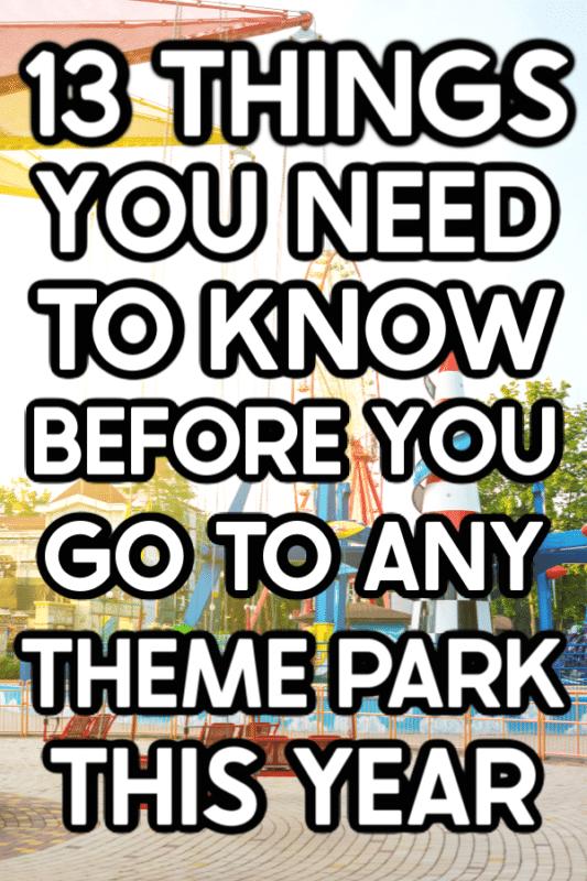 Amusement park image with text for Pinterest