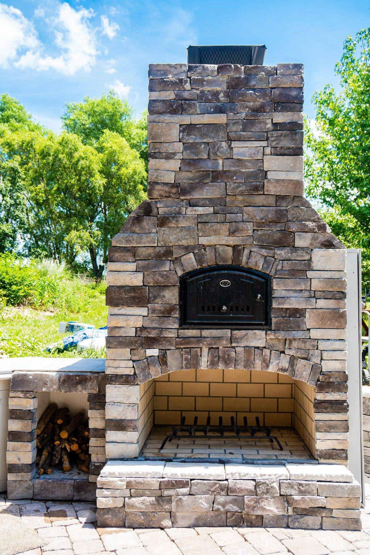 Stoned Round Grove outdoor brick oven