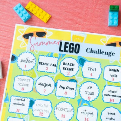 Printable Summer Lego Challenge Ideas