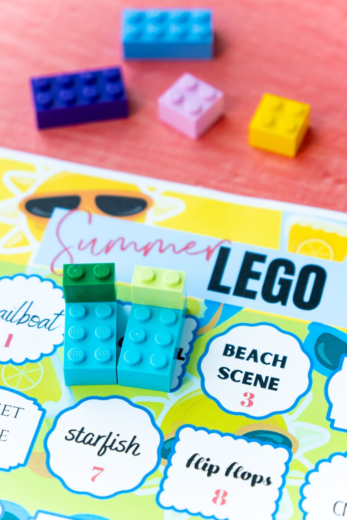 Beach chairs on top of lego challenge ideas
