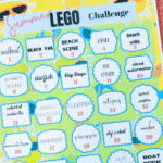 Printed summer lego challenge ideas with text for Pinterest