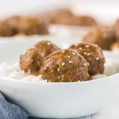 Baked Turkey Meatballs with Teriyaki Sauce