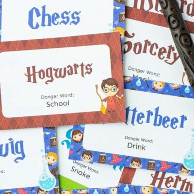Harry Potter Danger Word Game