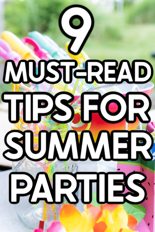 Summer party image with text for Pinterest