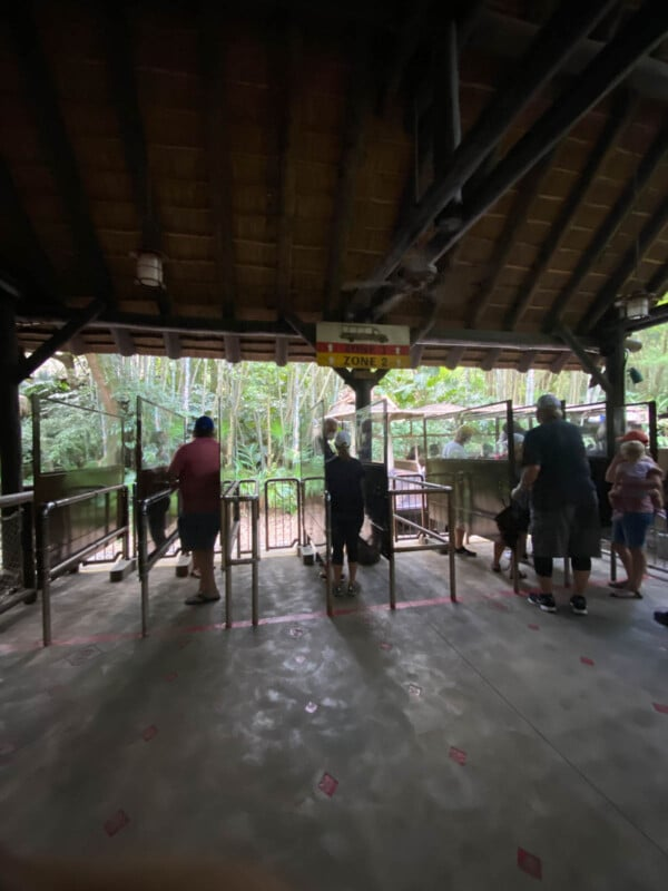 Ride line for Animal Kingdom Safari